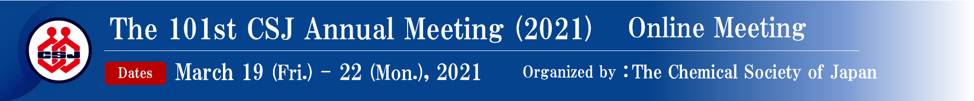 The 101st CSJ Annual Meeting