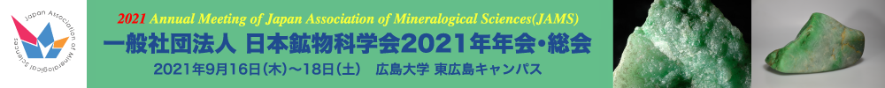 2021 Annual Meeting of Japan Association of Mineralogical Sciences (JAMS)
